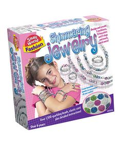 841119eef Crafty kids will love making awesome necklaces and bracelets with this  shimmering jewelry making kit.