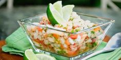 This Baja California-style shrimp ceviche is made with shrimp, fresh lime juice (TRIPLE CITRUS JUICE!), and refreshing cucumber. Make it as mild or spicy as you want by adjusting Shrimp Avocado Salad, Shrimp Ceviche, Ceviche Recipe, Avocado Salad Recipes, Endive Recipe, Seafood Dishes, Seafood Recipes, Mexican Food Recipes, Appetizer Recipes