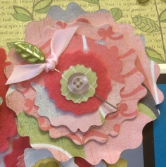 love the use of felt with the paper flower and the leaf pin