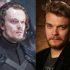 Theo Greyjoy & Euron Greyjoy...   Euron is Theon Greyjoy's uncle in the new season of GOT.  He is to play a crucial part in the story.
