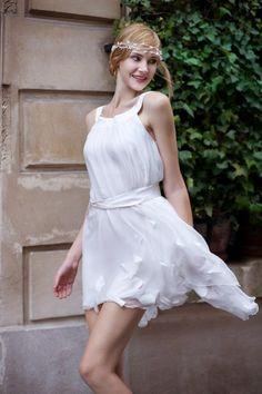 Vestido de novia corto! una idea ligera y fresca con estilo para este verano