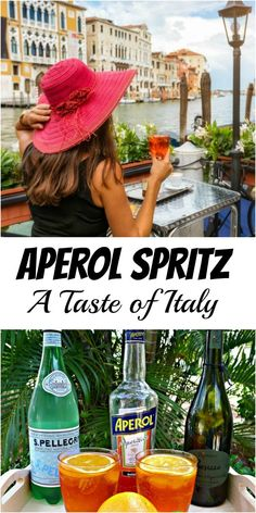 Aperol Spritz, Food And Drinks, Aperol Spritz is a popular Italian drink that is very refreshing. It has an orange bitter taste with underlying herb tones. It's delicious! Drinks Alcohol Recipes, Yummy Drinks, Cocktail Recipes, Drink Recipes, Alcoholic Drinks, Beverages, Cocktails, White Wine Spritzer, Prosecco Sparkling Wine