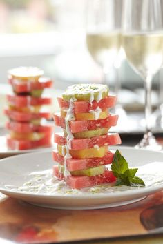 Watermelon and Kiwi with Coconut and Lime