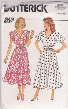 Vintage 1980s pattern for V neck dress cap or by beththebooklady, $11.99