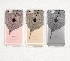 Clear with Design iPhone SE iPhone 6S/6 Case Leave by AnandaImage