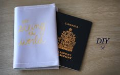 Never have a boring passport again! Not into the paint pens? Try leather stamping!: https://www.youtube.com/watch?v=bDSgPykTPns Last DIY: DIY Personalized Lu...