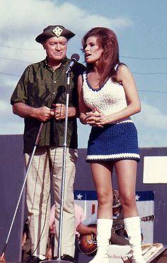 Bob Hope and Raquel Welch - USO Christmas Tour - 1967