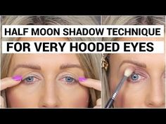 Half Moon Technique For Very Hooded Eyes - YouTube