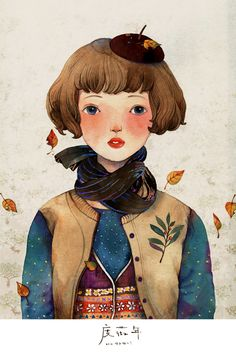 Cute autumn illustration