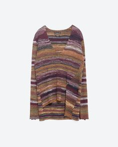 Image 8 of OVERSIZE MULTICOLOR STRIPED SWEATER from Zara