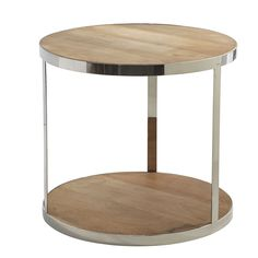Splurge side table from the Washington Post home makeovers column: Cylinder side table ($329, wisteria.com).