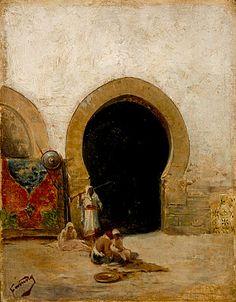 Mariano Fortuny Marsal At the Gate of the Seraglio, circa 1870