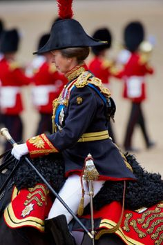 The Princess Royal, Princess Anne at the Trooping the Colour ceremony 2010, Whitehall