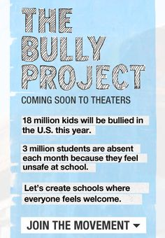 The Bully Project.........something to think about