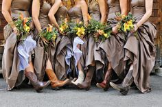 Me and my bridesmaids will totally be in cowboy boots :)