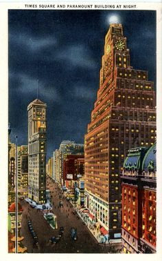 1940's postcard. Times Square & Paramount Bldg on right, NEW YORK CITY