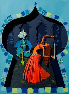 Arabian nights paper art by Megan Brain www.meganbrain.com