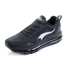 ONEMIX Mens Air Cushion Sports Running Shoes New Wave Casual Walking Sneakers Black US 8.5 * Be sure to check out this awesome product. (This is an affiliate link) #RunningShoesIdeas