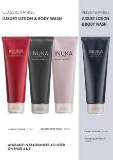 INUKA PRODUCT BROCHURE 2019 Body Wash, Body Lotion, Shot Glass, Glow, Fragrance, Mugs, Product Brochure, Luxury, Tableware