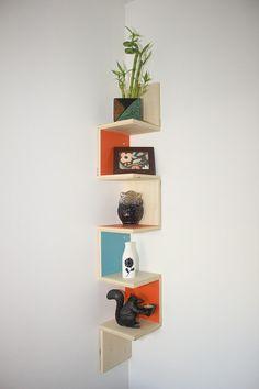 Modern Furniture  Modern Corner Shelf by LowFiModern on Etsy (from Columbus)