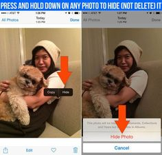 You can now hide photos to keep them from showing up in your photo stream.   16 Things You Didn't Know Your New iPhone Could Do