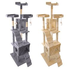 Animals Cats: 73 Deluxe Cat Tree Tower Condo Furniture Scratch Post Pet Kitty Playhouse -> BUY IT NOW ONLY: $53.99 on eBay!