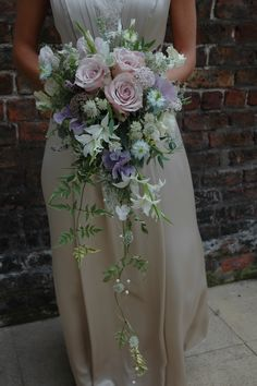 Hayley's rose and jasmine vintage style cascade bouquet