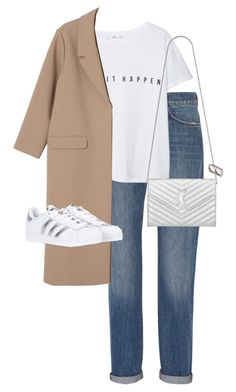 """""""Untitled #11260"""" by alexsrogers ❤ liked on Polyvore featuring Victoria, Victoria Beckham, MANGO, Monki, adidas and Yves Saint Laurent"""