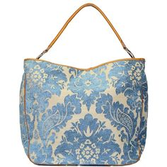 OLIVIA Ice Blue Mosaic on Taupe by Glenda Gies $368