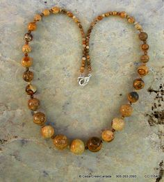 Picture Jasper Gemstone Graduated Necklace     by CedarCreekCanada