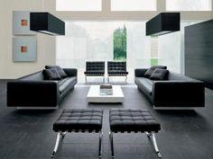 Muebles y decoración para el hogar: Salas modernas de piel