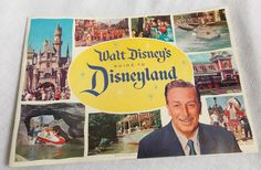 1960 Walt Disney's Guide To Disneyland Amusement Park Brochure Booklet Vintage