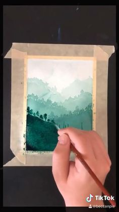 Abstract Painting Watercolor, Watercolor Clouds, Watercolor Art Lessons, Watercolor Paintings For Beginners, Watercolor Sketchbook, Watercolor Projects, Watercolor Landscape Paintings, Painting Techniques, Painting & Drawing