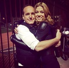 Clark Gregg and Adrianne Palicki | Agents of S.H.I.E.L.D. behind the scenes