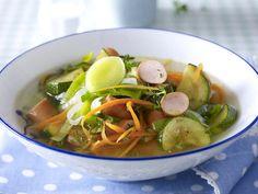 Gemüsesuppe - leckere Vitamine zum Löffeln - gemuesesuppe-gefluegelwurst  Rezept