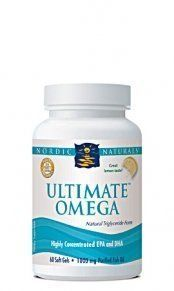 Nordic Naturals Ultimate Omega Lemon -- 1000 mg - 180 Softgels by Nordic Pure. Save 2 Off!. $58.00. Nordic Naturals Ultimate Omega 500 contains 70% purified Omega-3 fatty acids, providing an exceptionally high concentration of EPA and DHA in one delicious serving. Formulated to support healthy aging, improved mood, and healthy glucose levels, Ultimate Omega 500 provides optimal heart health, and supports other organs such as the liver and prostate. Related Links Fish, olive oil, nuts ...