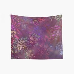 Psychedelic Rainbow Jungle Floral Print Wall Tapestry  #wall #tapestry #tapestries #psychedelic #rainbow #jungle #flower #floral #gold #yellow #pink #red Tapestry Wall Hanging, Wall Hangings, Cool Walls, Window Coverings, Tapestries, Wall Prints, Psychedelic, Floral Prints, Rainbow