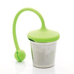 leafTEA Loose Leaf Tea Strainer : Tea Infuser : Tea Steeper : Tea Basket in Stainless Steel - http://teacoffeestore.com/leaftea-loose-leaf-tea-strainer-tea-infuser-tea-steeper-tea-basket-in-stainless-steel/