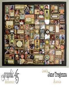 Jane Tregenza Scrapbook Pages, Scrapbooking, All Themes, Graphic 45, Journal Ideas, Otp, Trays, City Photo, My Favorite Things