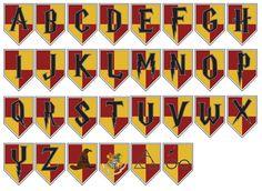 Alfabeto para imprimir de Hogwarts Banner de cumpleaños de