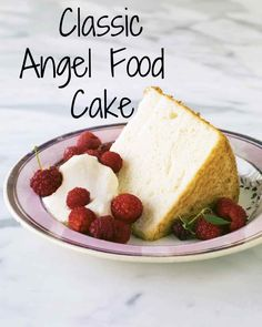Classic Angel Food Cake | Martha Stewart Living - Plan ahead: Allow at least two days for the elderflower syrup to sit at room temperature before starting the cake.
