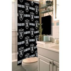 NFL Oakland Raiders Decorative Bath Collection - Shower Curtain, Multicolor