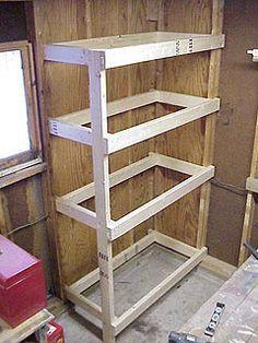 Diy Garage Storage Project Building A Heavy Duty Shelf