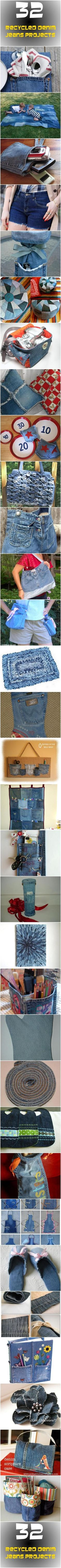 32 Recycled Denim Jeans Projects by ruth