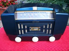"""Vintage 1947 RCA """"Golden Throat"""" Tube Radio, Model 66X11, Restored and Working…"""