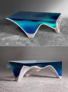 Romanian designer Eduard Locota has just released a unique furniture piece that makes one feel as though they are being drawn into the depths of the ocean. The distinctly unconventional item is aptly titled delMare (or From the Sea) and comes imbued with the same hypnotic qualities as the shimmering aquatic. Emulating the shade variation and stunning hues of the oceanic abyss, delMare is revealed as a stand-apart home fixture.