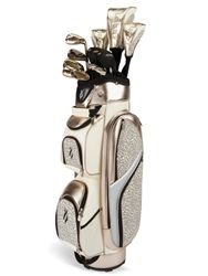 New! Nancy Lopez ladies golf club set includes putter and cart bag (champagne) #Golf4Her.com