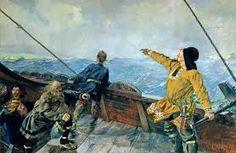 Leiv Eiriksson Norse Leifr Eiriksson Also Called The Leiv Hepner Ie Lucky Ca 973 Ca 1020 Was A Norse Explorer Who Is Rem Vikingtiden Maleri Amerika