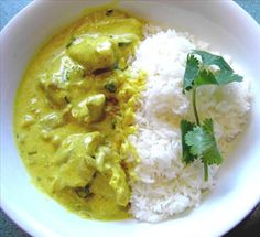 Indian food for when you don't have hours to make it! This chicken korma is pretty easy.
