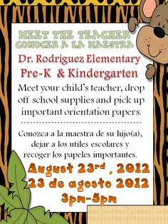 Meet the Teacher : Do you have a meet the teacher? It is really beneficial for all parties involved.   Mrs. Ayala's Kinder Fun